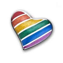 Messing keepsake hart Pride