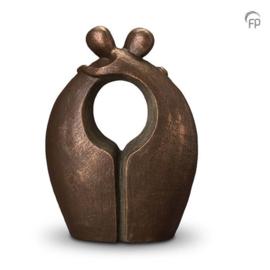 Keramische urn brons Afscheid