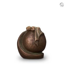 Keramische urn brons In vredige rust