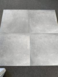 ACTIE: grijze Claystone vloertegel 60 x 60 cm rect.