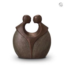 Keramische urn brons Voor altijd samen