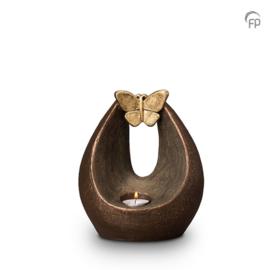 Keramische urn brons Verlichte vlinder