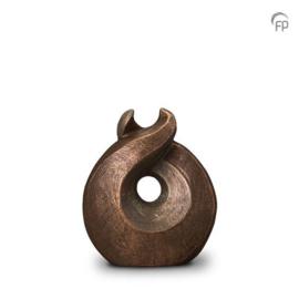 Keramische urn brons Licht