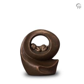 Keramische urn brons Het gemis