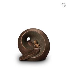 Keramische urn brons Oneindige tunnel