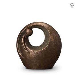 Keramische urn brons Eenzaam, maar niet alleen
