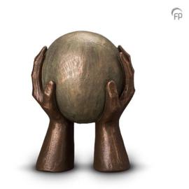 Keramische urn brons Gedragen