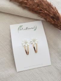 Golden Daisy clip klein (2 stuks)