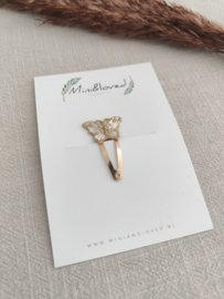 Butterfly clip klein (1 stuk)