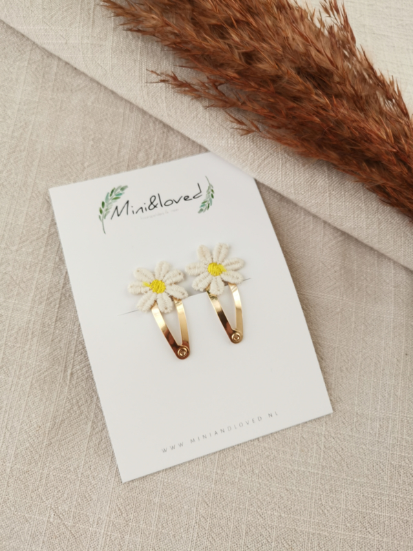 Daisy clip klein (2 stuks)