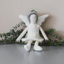 Decoratie engel groot wit