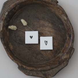 Liefdevolle tegel mini hart