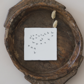 Liefdevolle tegel vogels