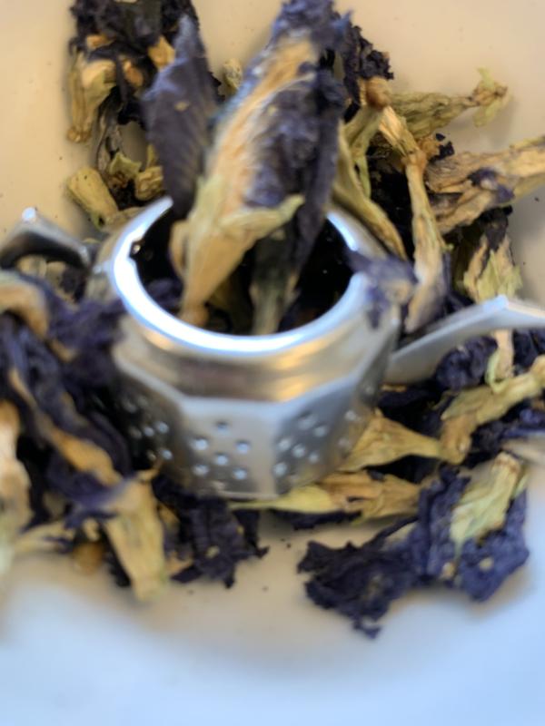Blauwe thee.