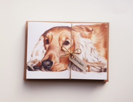 Voordelige sets dubbele kaarten hond