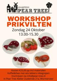 Workshop prikvilten Zondag 24 Oktober