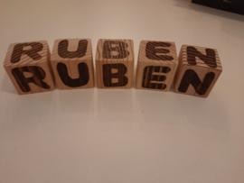 Blokken met letters