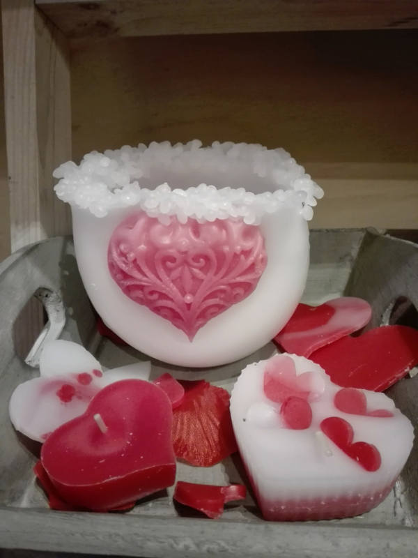 Set hart kaarsen