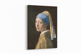 Meisje met de parel op canvas