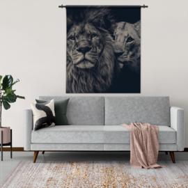 Wandkleed leeuwen