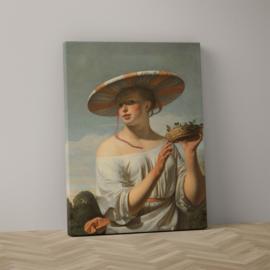 Meisje met een brede hoed