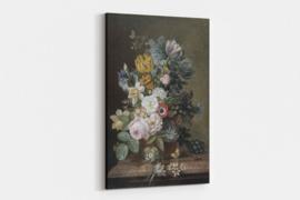 Bloemen schilderij op canvas