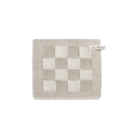 Knitfactory pannenlap block ecru/linnen