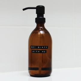 "wellmark afwasmiddel 500ml stalen pomp zwart ""get dirty with me"""