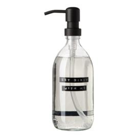 wellmark afwasmiddel 500ml helder glas zwart