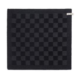 knitfactory keukendoek block zwart/antraciet