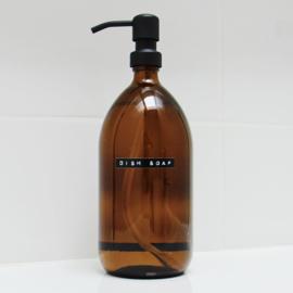 wellmark afwasmiddel bruin glas1 ltr. stalen pomp zwart