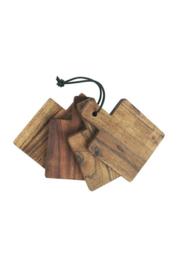 IBlaursen set va 4 onderzetters van geolied acaciahout