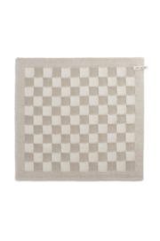 knitfactory keukendoek block ecru/linnen