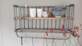 keukenrek metaal grijs