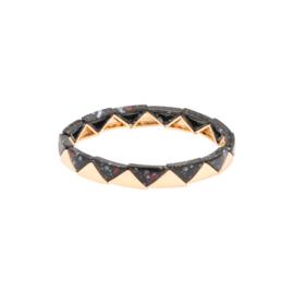 Armband Marble Triangle - zwart