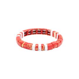 Armband Marbleous - rood