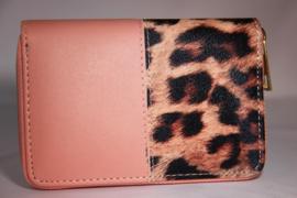 portemonnee luipaardprint - roze