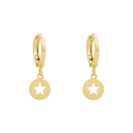 Oorbellen Catch a star - goud