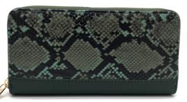 portemonnee slangenprint - groen