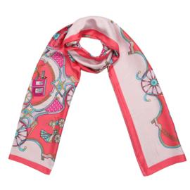 Sjaal Silky circus - roze