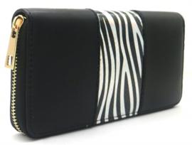 Portemonne Shiny Zebra - zwart