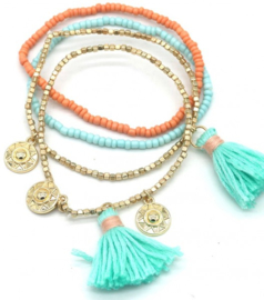 Tassels and coins