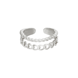 Ring Endless love zilver