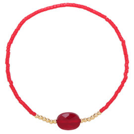 Armband Happy Color Red