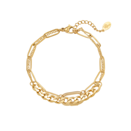 Armbanden Chains Two in One - goud
