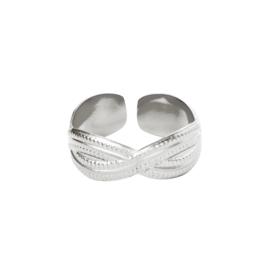Ring Poppy zilver