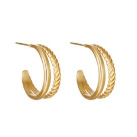 Oorbellen Sophisticated - goud