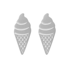 Oorbellen Ice Cream - zilver
