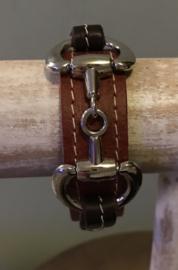 Armband Paardenbit Cognac