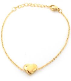Armband hart - goud